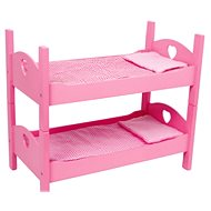 Wooden toys - Bunk bed doll pink
