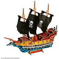 Wooden 3D Puzzle - Pirate Ship - Play Set