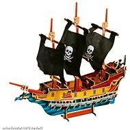 Dřevěné 3D Puzzle - Pirátská loď - Herní set
