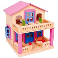 Pink dollhouse with terrace - Clara