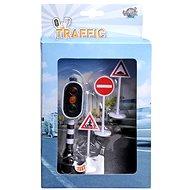 Funkční semafor a dopravní značky - Herní set