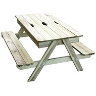 Small table with two benches PIC-NIC with storage