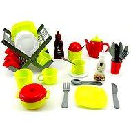 Odkapávač s nádobím a doplňky - Herní set