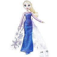 Frozen doll Elsa glittering dress and a friend - Play Set