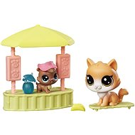 Littlest Pet Shop Beach bar with 2 animals