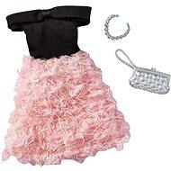Mattel Barbie Šaty s doplňky – černo-krémové