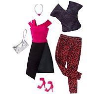 Mattel Barbie Dvoudílný set černo-červeného oblečení