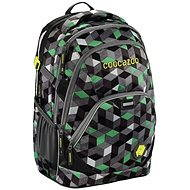 CoocaZoo EvverClevver 2 Crazy Cubes Green - Školní batoh