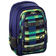 Hama All Out Selby Backpack Summer Check Green - Školní batoh