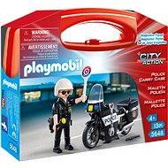 Playmobil 5648 Prenosný box - Policajt s motorkou