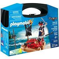 Playmobil 5655 Přenosný box - Pirát na voru - Stavebnice