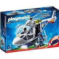Playmobil 6921 Polizei-Helikopter mit LED-Suchscheinwerfer - Baukasten