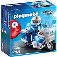 PLAYMOBIL® 6923 Polizeimotorrad mit LED-Licht - Baukasten