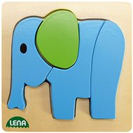 Lena Dřevěné puzzle - slon