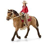 Schleich Westernová jazdkyne na koni - Figúrky