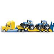 Siku Super – tahač s vlekem a 2 traktory New Holland - Kovový model