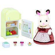 Sylvanian Families Nábytek chocolate králíků – mamka u ledničky - Herní set