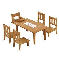 Sylvanian Families Nábytek – jídelní stůl se židlemi - Herní set