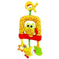 Rappa Klip plush baby owl with bites, big - Baby Rattle & Teether