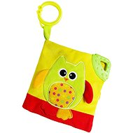 Rappa Book baby owl with clip - Baby Toy