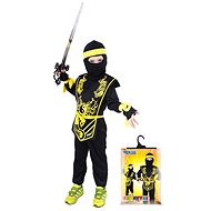 Rappa Ninja black and yellow, size S - Kids' Costume