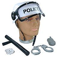 Rappa Polizei Helm mit Zubehör - Kostüm-Accessoires