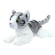 Rapp Katze grau-weiß, klein liegend - Plüschspielzeug