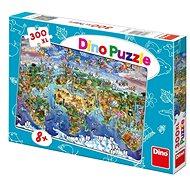 Dino Illustrated Weltkarte - Puzzle
