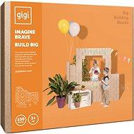 Gigi bloks obrovské kartonové kostky XXL 100 ks - Dřevěná hračka