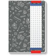 LEGO Stationery Zápisník šedý - Zápisník