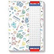 LEGO Stationery Zápisník bílý - Zápisník