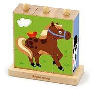 Kostky - zvířatka z farmy 9 ks - Kostková hra