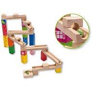 Dřevěná kuličková dráha - Dřevěná hračka