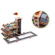 Dřevěná garáž s autíčky - Dřevěná hračka