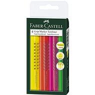 Faber-Castell Grip Marker Textliner, 4 ks - Markierstift