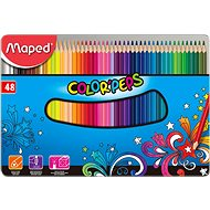 Maped Color Peps Metal Box, 48 barev - Pastelky