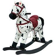 Kůň houpací bíločerný - Plyšová hračka