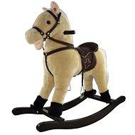 Kůň houpací béžový - Plyšová hračka