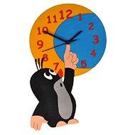 Dodo Dětské dřevěné hodiny Krtek a měsíc - Hodiny do dětského pokoje