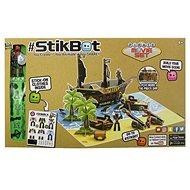 StikBot Filmařská sada Pirátská loď - černý štít - Kreativní sada
