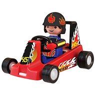 Igráček Závodník s motokárou - červená
