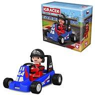 Igráček Závodník s motokárou - modrá