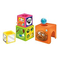B-Kids Skládací kostky Busy Baby Stackers - Obrázkové kostky