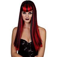 Paruka červenočerná - dlouhé vlasy - Dětský kostým