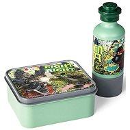 LEGO Ninjago svačinový set (láhev a box) - army zelená