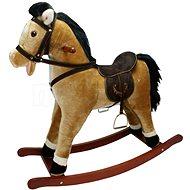 Houpací kůň závodní - světle hnědý - Houpadlo
