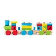 Woody Dřevěný skládací nákladní vlak - dva vagony - Vláček