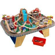 Kid Kraft Eisenbahn mit Tisch, Wasserfall - Modell-Eisenbank