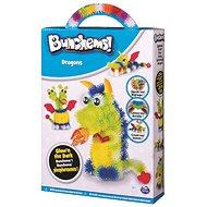 Bunchems - Fosforeskující sada Draci - Kreativní sada