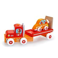 Scratch Náklaďák se závodním autem - Dřevěný model